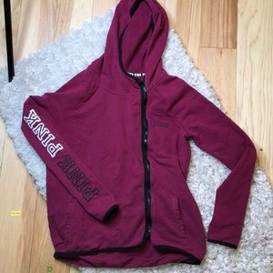 VS PINK zipped hoodie - size Small